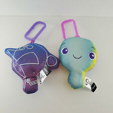 "Disney Pixar Soul Plush Toy Lot of 2 Terry Newb Keychains 5"""