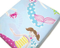 Pottery Barn Kids Organic Cotton Multi Colors Mermaid Full Queen Duvet Cover New