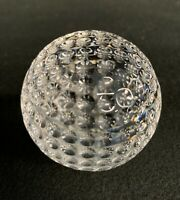 """Waterford Crystal Golf Ball 2 1/2"""" Paperweight Figurine (inv:a32)"""
