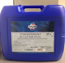 FUCHS TITAN Supersyn F Eco-DT 5w-30 Engine Oil 20 Litre ACEA A5/B5