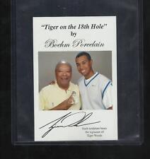 New listing 1998 BOEHM TIGER WOODS W/DAD EARL GOLF RC ROOKIE CARD ON 18TH HOLE PGA UD