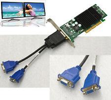 DUAL HEAD AGP 4/8 VGA GRAFIKKARTE GRAPHIC CARD NVIDIA FX5200 DELL p/n OG0170 G38