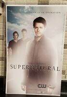 "CW Supernatural poster: Sam, Dean, Castiel 11""x17"" - (Great Conditon)"