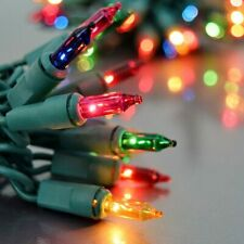 Multi-Color green wire Twinkle Christmas Lights Holiday Mini Light 100 bulb 20ft