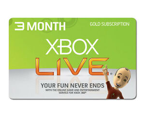 XBox Live 3 Month Gold Membership Code Xbox One 360 Fast Delivery EU/UK Region
