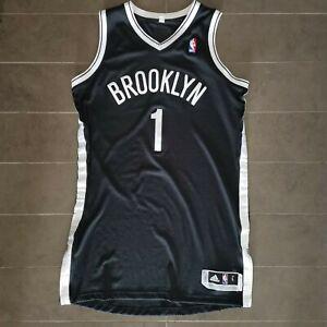 MASON PLUMLEE SIGNED BROOKLYN NETS AUTHENTIC NBA BASKETBALL JERSEY SIZE L REVO30
