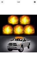 5Pcs Amber Roof Cab Marker Clearance LED Bulbs Lights 2003-2015 Dodge Ram Dually