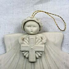 Margaret Furlong Angel Shell With Cross Ornament ~ 1993 Mib In Box
