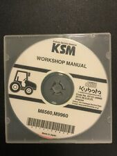 New Kubota Service Workshop Manual CD M8560 M9960  9Y131-06860