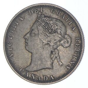 Better Date - 1883 Canada 25 Cents - SILVER *336