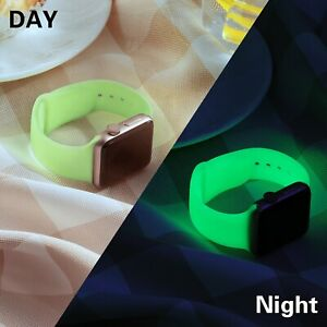 For Apple Watch Series 1/2/3/4/5/6 Neon Fluorescent Luminous Silicone Strap