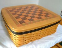 Longaberger 2001 FATHER'S DAY Combo CHECKERBOARD Game Set +LinerProLidTO+ Pieces