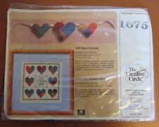 Patchwork Hearts Sampler Love Spoken Here Cross Stitch Creative Circle 1675 New