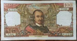 Billet de 100 francs CORNEILLE 4 - 5 - 1972 FRANCE T.646