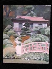 Regional PAINTING fine art HAKONE GARDENS Oldfield Japanese garden Saratoga, CA