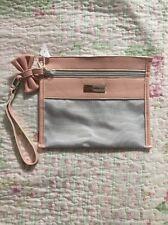 BNWOT VICTOR&ROLF Light pink/ Grey Clutch Bag/ Make Up Bag/ Wristlet