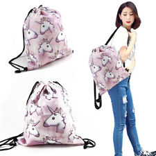 UNICORN BACKPACK GIFT IDEA Rucksack Bag Gym Laundry 3d Printing swim Drawstring