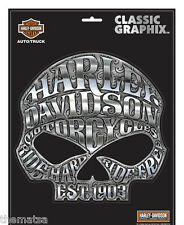 "HARLEY DAVIDSON MOTORCYCLES WILLIE G. SKULL CLASSIC GRAPHIX 8"" STICKER DECAL"