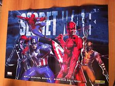 WOLVERINE DEVIL SPIDER MAN CAP SECRET WAR GABRIELE DELL'OTTO POSTER 68x48 MARVEL