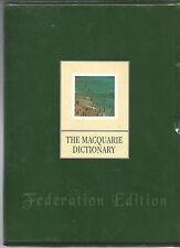 Macquarie Dictionary: Federation Edition 2 Volume Box Set HCDJ Slipcased As New