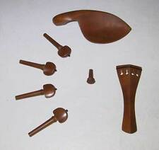 Jujube 7-Piece Standard Violin Fitting Set Parts for 4/4 Violin Fiddle w/ Clamps