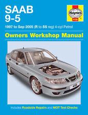 Haynes Manual 4156 Saab 9-5 95 2.0 2.0T & 2.3 2.3T SE Aero 1997-2005 NEW