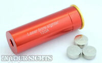 12 Gauge Laser Cartridge Bore Sighter 12GA Shot Gun Boresighter Sight Boresight