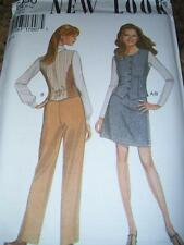 NEW LOOK #6430 - LADIES BUTTON DOWN VEST - SLIM SKIRT - TROUSERS PATTERN  8-18uc