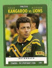 1991  KANGAROO TOUR RUGBY LEAGUE CARD #198  GREG ALEXANDER