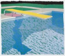 Swimming Pool with Shadow, David Hockney print in 10 x 12 mount ready to frame