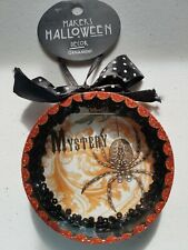 Halloween Ornament Hanging Glitter Sparkle Fun Black Spider Mystery NWT
