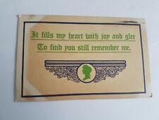 Greeting Postcard Vintage Posted Postmark 1913 Remember me