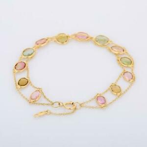 Beautiful Wedding Gift Gold Jewelry Natural Multi Sapphire Gemstone Bracelet