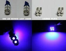 Blue HID Xenon Color LED Reverse Back Up & License Plate Light Bulb Combo - 4pcs