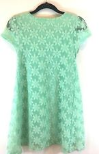 Kimchi Urban Outfitters Women's Dress Lace Light Green Short Sleeves Size Small