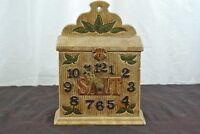 Vintage Mantle/Hanging Clock Saltbox E.S. Molds Model 73261