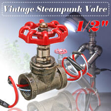 Valve Industrial Steampunk 1/2 Inch Stop Pipe Rotary Light Switch W/ Wire