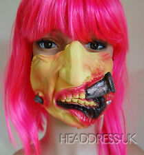 Big Nail Hardcore Face Comedy Latex Half Face Mask Costume Fancy Dress Party