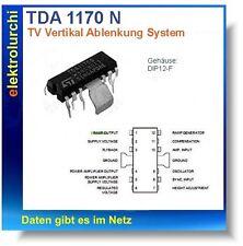 TDA1170 - TV Vertical Deflection System  /  IC TDA 1170, DIP12-F ,1St.
