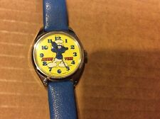 VINTAGE 1980 SMURF WIND UP WATCH BY BRADLEY CHARACTER WATCH SMURFS