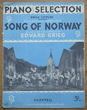 Edvard Grieg – Song Of Norway piano selection – Pub.1946