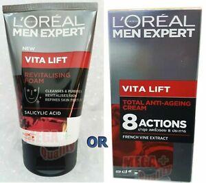 Loreal Men Expert VITALIFT REVITALIZING Facial Foam Face Wash Cleanses 100ml.