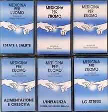 "6 musicassette ""Medicina per l'uomo"" (Veronesi, Ricci, Mancini, Rossi, Urbinati)"