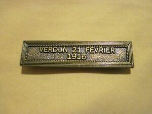 Agrafe VERDUN  21 Février 1916  pour Médaille Commémorative de VERDUN