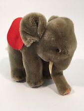 Vintage Steiff Austria Elephant with Red Felt Saddle  EAN:  0500/17