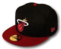 New Era 59Fifty NBA Miami Heat Fitted Baseball Cap Hat Select Size