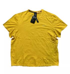 Nike Men's Short Sleeve Mustard Yellow Training Top T-shirt Size XL CU5007-133