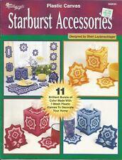 Starburst Accessories ~ 11 Star Decor Accessories Plastic Canvas Patterns RARE