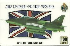RARE / CARTE TELEPHONIQUE - AVION DE COMBAT : ROYAL AIR FORCE RAF UK HAWK 200