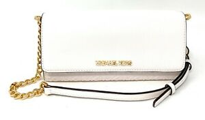 Michael kors Jet Set Travel Large Wallet On A Chain Leather Crossbody Bag